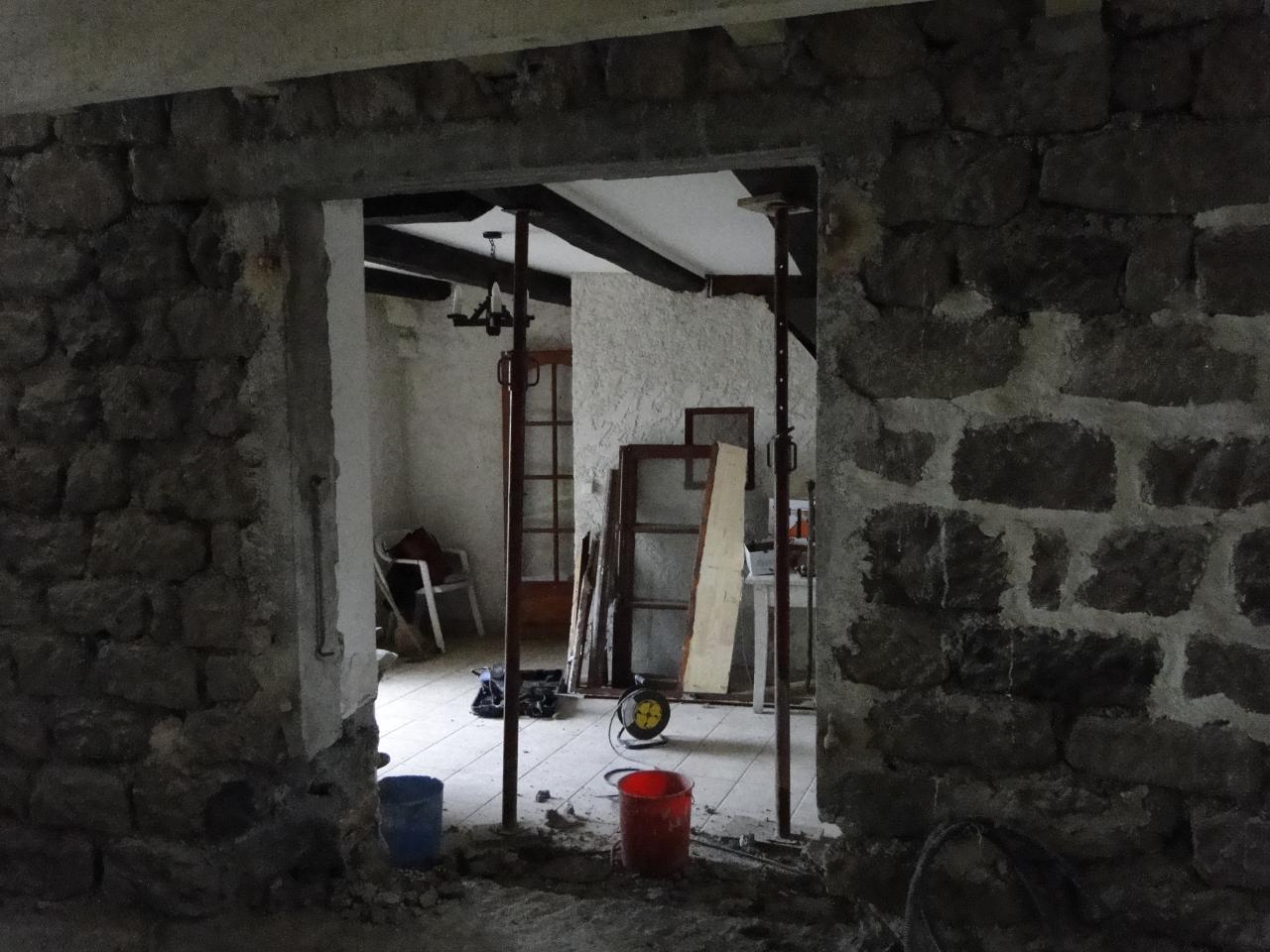 Percement du mur séjour/cuisine
