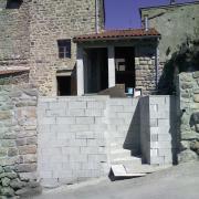 Mur jardin reconstruit